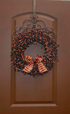 Halloween Wreath  Halloween Door