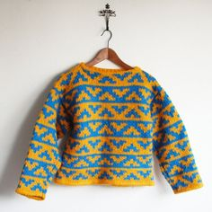 Vintage hand knit sweater.