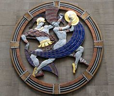 """Dance"", enamel medallion by Hildreth Meiere, Radio City Music Hall, Rockefeller Center, New York radio citi, gotta danc, radios, nueva york, dance, music hall, citi music, hildreth meier"