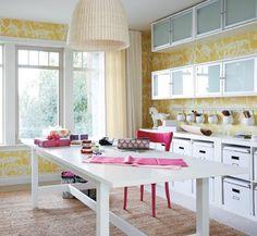 Bright & Organized Craft Room