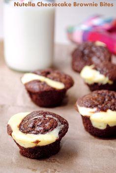 Nutella Brownie Cheesecake Bites