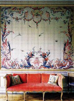 Stora Wäsby Castle 1750. Ladies' Drawing Room
