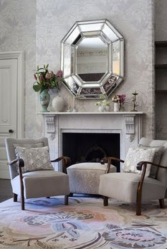 cinema style, fireplac, antique lace, gatsby interior design, cushions, garden parties, art deco interiors, catherin martin, antiques