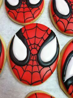 SPIDERMAN sugar cookie. $36.00, via Etsy.