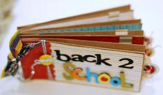 #papercraft #scrapbook #minialbum #B2S. Back 2 School paper bag mini