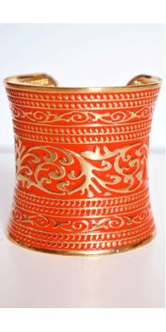 Orange and gold cuff