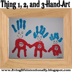 Thing 1, 2, and 3 Hand Art project perfect art #craft project for #DrSeuss