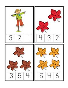 Preschool Printables: Autumn Counting Cards