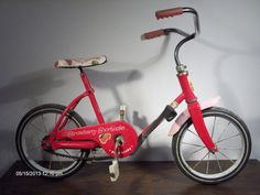 "Vintage Strawberry Shortcake ""On The Go"" Bicycle with Pedi Brake by Hedstrom USA"