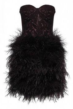 Feather Skirt Lace Dress by OPULENCE ENGLAND @girlmeetsdress