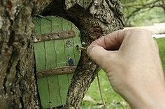 Consider Tongue Depressers For Unique Shaped Fairy Doors!
