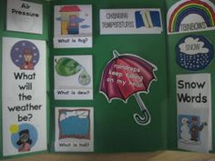 Free Weather Words Lapbook - elementary