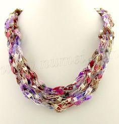 ladder ribbon necklace