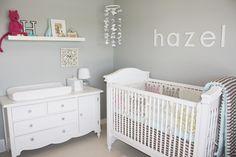 Gray walls, White furniture