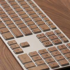 Wood keyboard -- hubby gift.