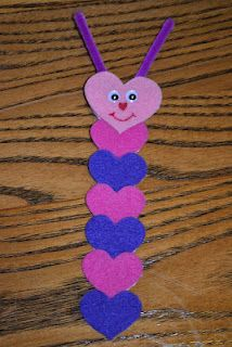 Heart Caterpillar Bookmark