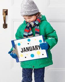 A Year in Pictures - Martha Stewart Crafts idea, crafti, stewart craft, gifts, children, year calendar, crafts, calendar gift, kid