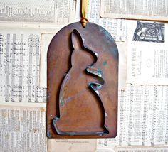 Vintage Copper Rabbit Cookie Cutter