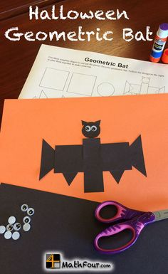 Try this fun Geometric Bat for Halloween with your students. It's a great way to talk shapes with every age! ~Bon