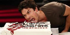 Ian Licking a Cake! You're welcome! | The Vampire Diaries