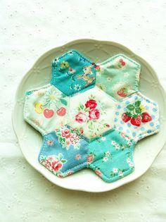 zakkaart, craft, hexi patchwork, pretti patchwork, hexagon, patchwork coaster