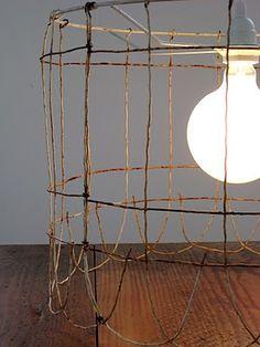 old fencing light fixture