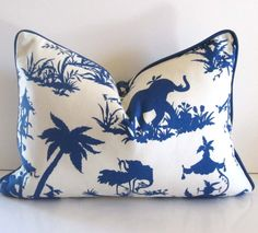 Chinoiserie pillow covers via etsy