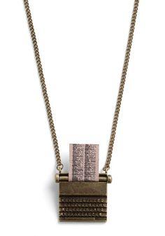 Just My Typewriter Necklace