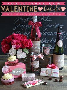 Sweet Vintage Valentine's Day Labels #valentine