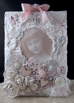 Shabby Lily Canvas - Scrapbook.com