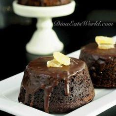gingerbread cakes w/ chocolate ganache