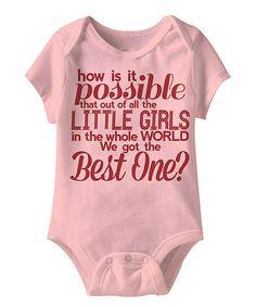 Best Little Girl Baby Onesie.
