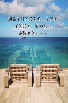 Watching the tide roll away