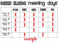 What the Teacher Wants!: Guided Reading Galore!