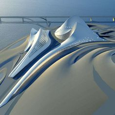 Dubai Opera House by Zaha Hadid  #Architecture #Dubai_Opera_House #Zaha_Hadid