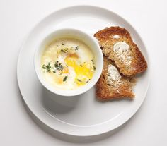 Baked Eggs With Cream and Herbs