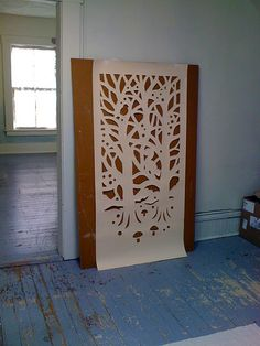 pattern for woodland paper cutout for windows/doors