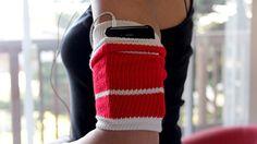 Turn an old sock into an iPod armband