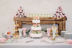 Gorgeous wedding dessert table.