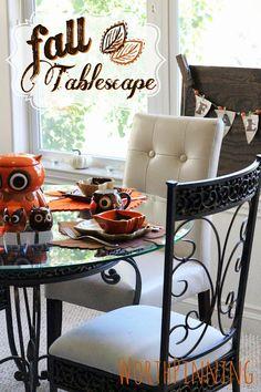 Fall Owl Tablescape
