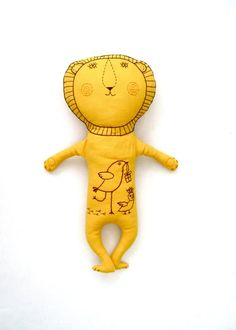 ☃ Plush Toy Preciousness ☃ Yellow Lion by tatianaflor