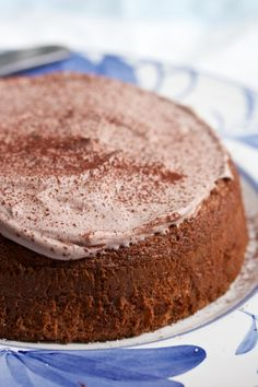Unleavened walnut cake - can be made kosher or not, depending on whether you use the cream of tartar in the chocolate whipped cream.  Sounds delicious.