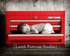 When we have a boy, he will definitely get his picture taken with a Craftsman toolbox!