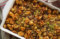 waffle, maple and sausage stuffing