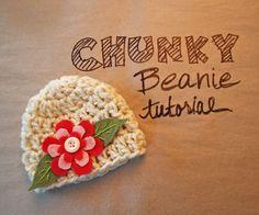 Week 1: Simple Chunky Beanie with Felt flower | A Handmade Year