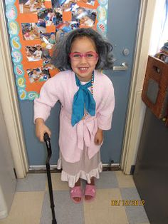 100th day.... have your kids dress up like a 100 year old!!