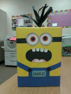 Valentine box I made. Minion! :-)