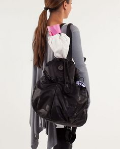 Lululemon Bliss Bag.  So versatile and perfect for the yoga studio, gym or even as a diaper bag!