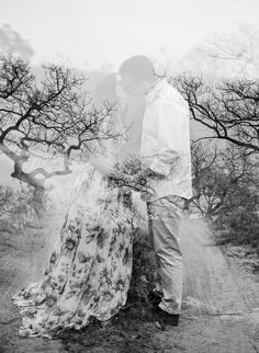 double exposure wedding portrait, photo by Feather and Stone http://ruffledblog.com/south-african-destination-elopement #weddingportrait #bw #wedding