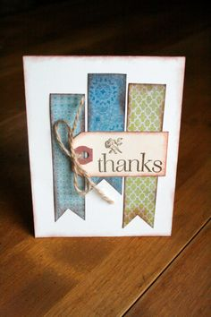 Thanks Card by MaggieRoseHandmades on Etsy card